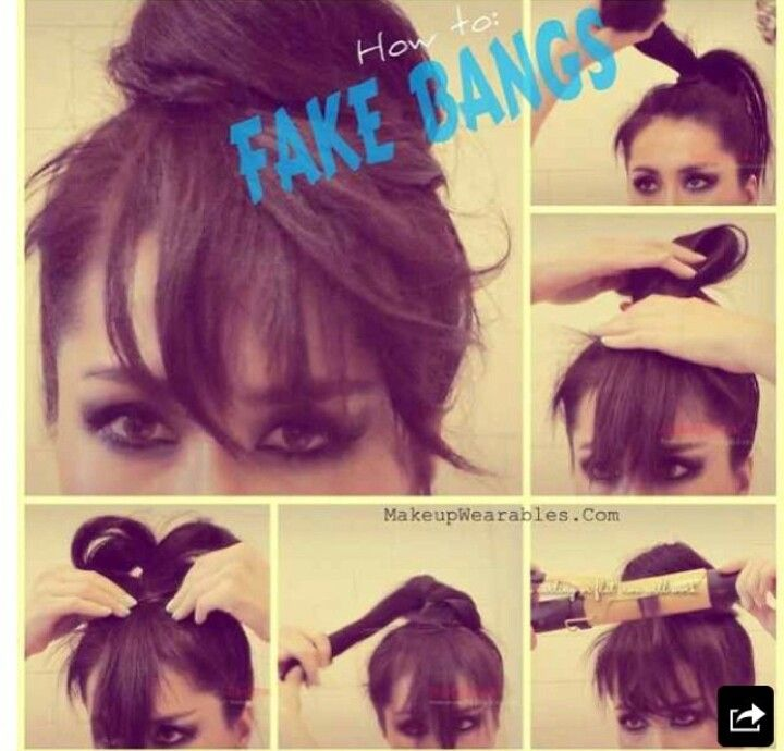 Fake Bangs Hairstyle Fascinating Fake Bangs  Hairstyles  Pinterest  Fake Bangs Easy Updo And Updo