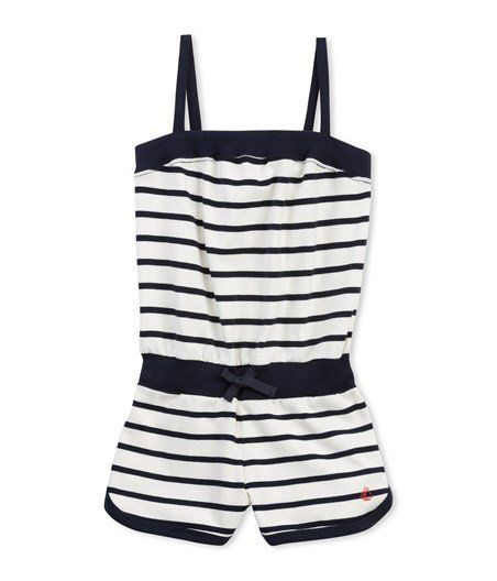88b6c11565 Belene Striped Playsuit Petit Bateau Children- A large selection of Fashion  on Smallable