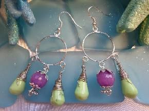 Jade and Turquoise earrings-FREE SHIPPING!!