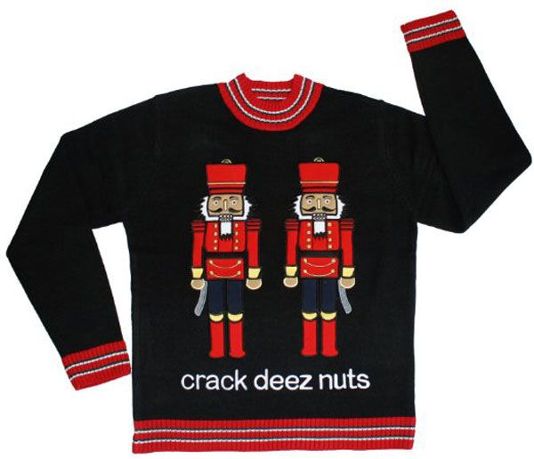 20 Naughty Christmas Sweaters | Naughty christmas sweater, Naughty ...