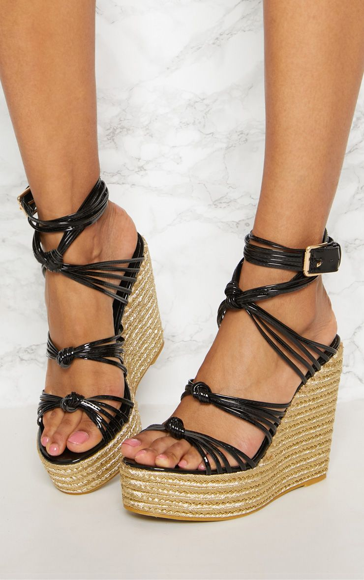 b9ad2131926 Black Multi Strap Espadrille Wedge in 2019 | Products | Espadrilles ...