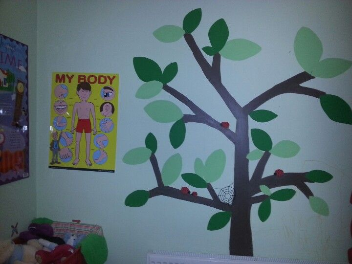 Cute tree in our playroom - so easy! Time to add some more trees & animals now...