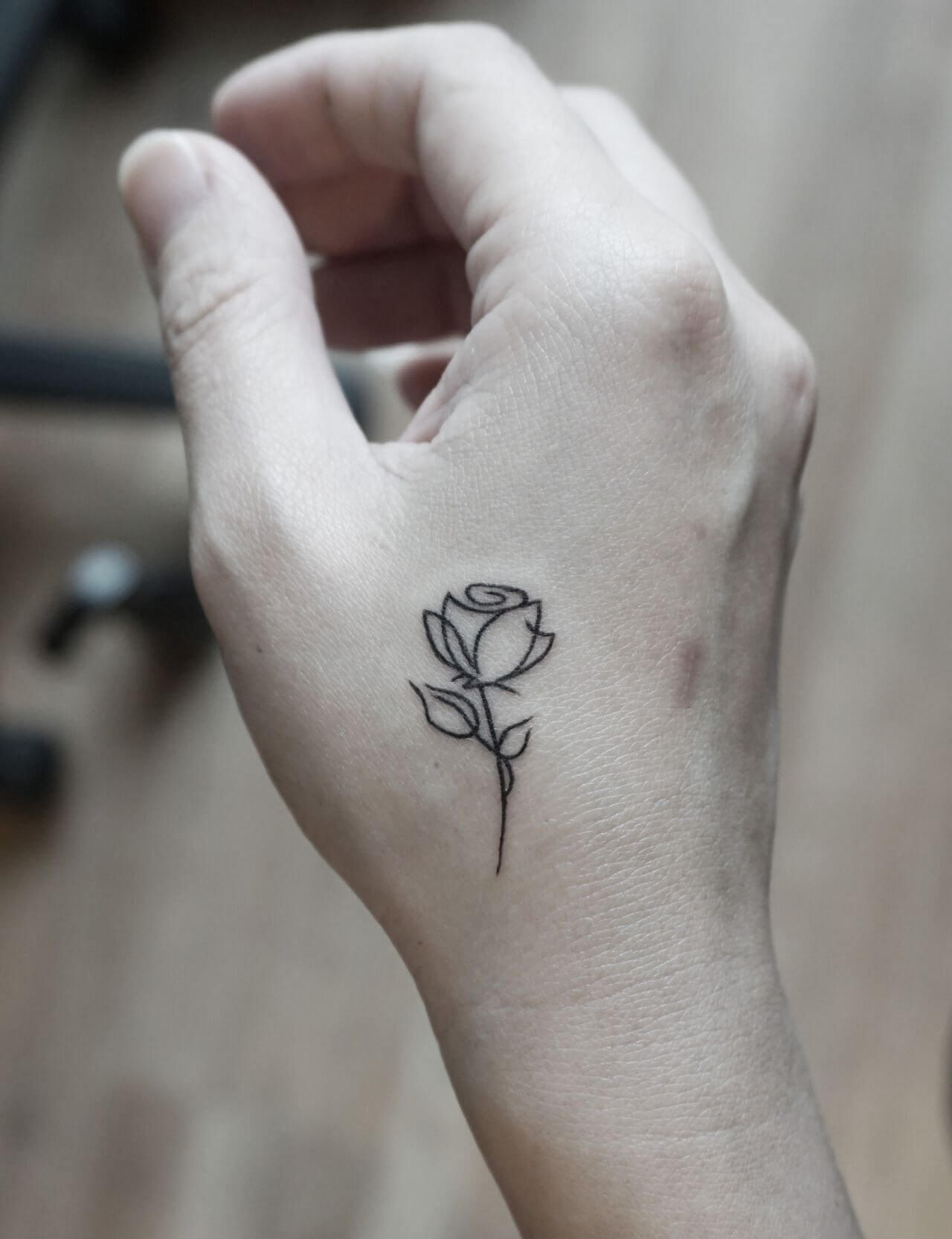 Simple Rose Tattoo Tattooquotes Simple Rose Tattoo Rose Tattoos Small Rose Tattoo
