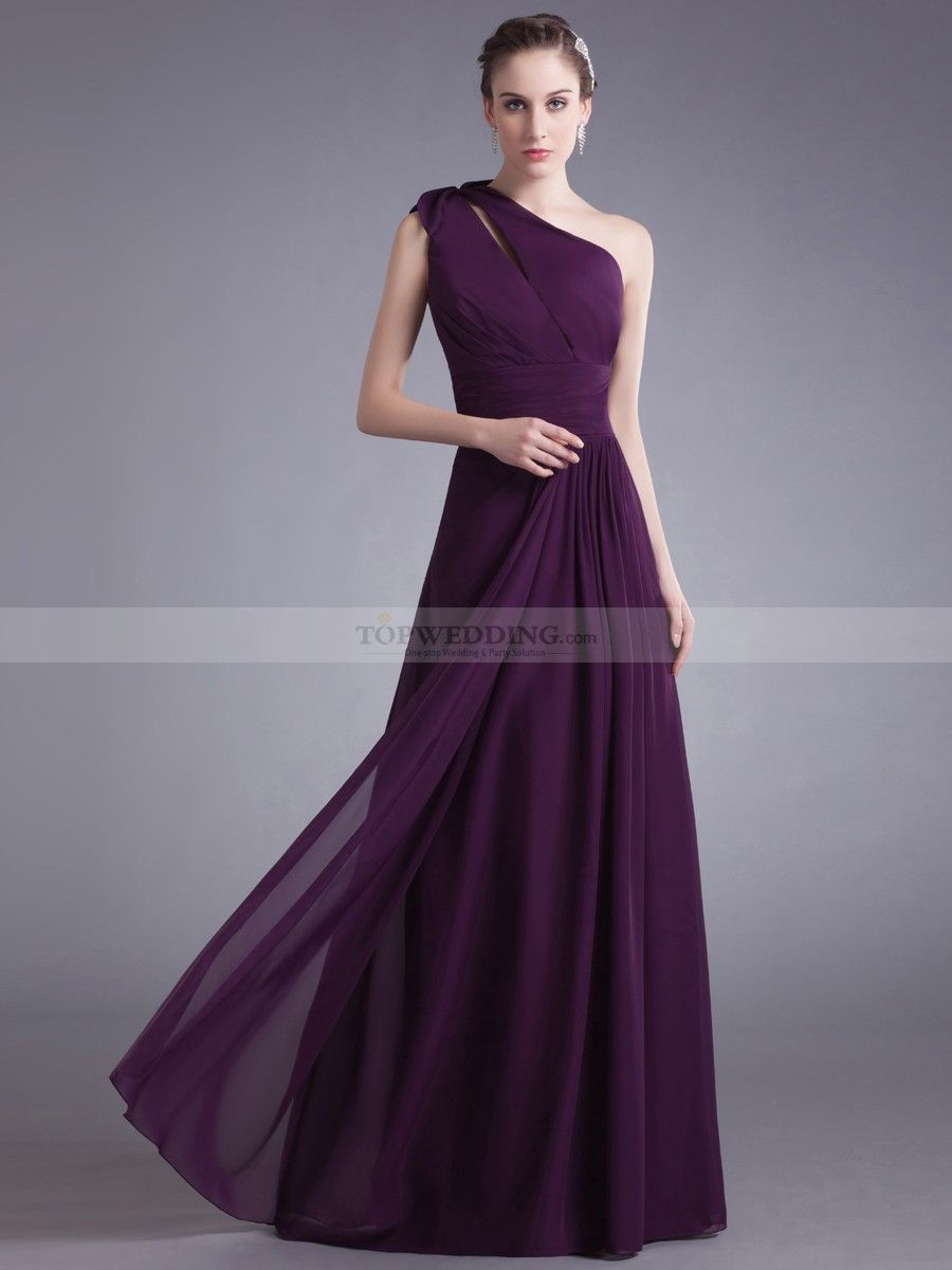 Asymmetrical neckline chiffon floor length bridesmaid dress asymmetrical neckline chiffon floor length bridesmaid dress ombrellifo Image collections