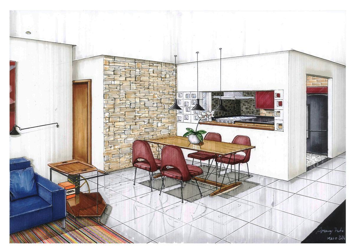 Pin di marco su prosp intuitive schizzi d 39 architettura for Disegnare interni