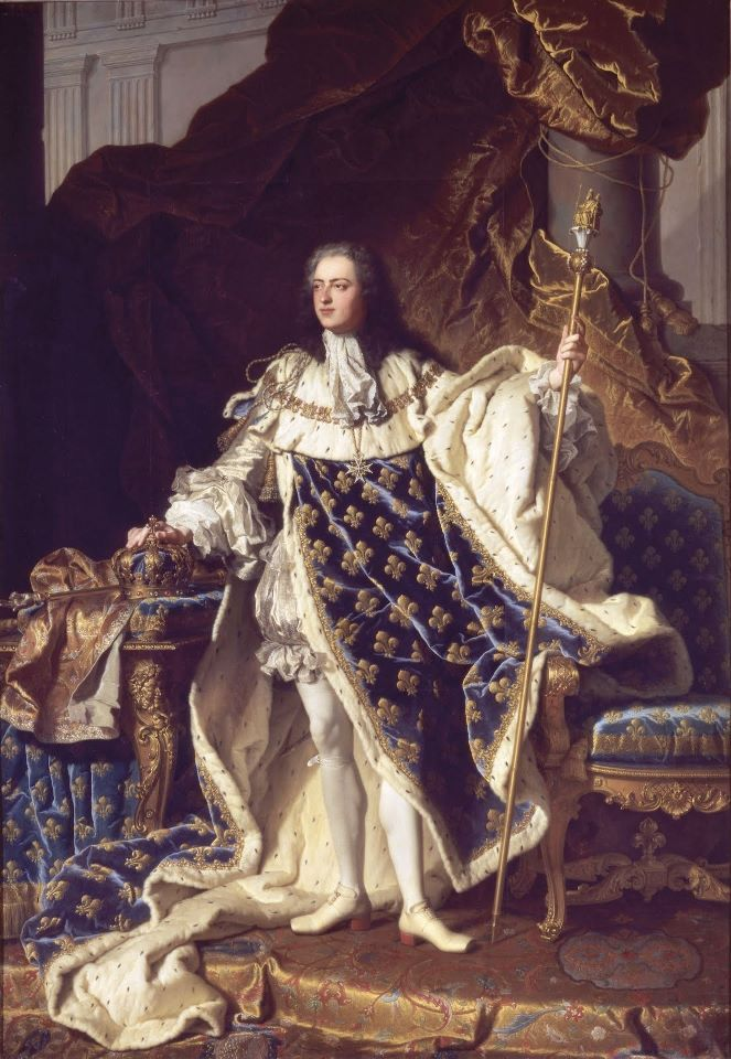 Louis XV, aged 20, by Hyacinthe Rigaud (1659–1743)   16th of February, 1723: Louis XV is officially proclaimed King of France.   Vive le Roi! The era of rococo is officially starting! That's why rococo style is named alternatively the Louis XV style.