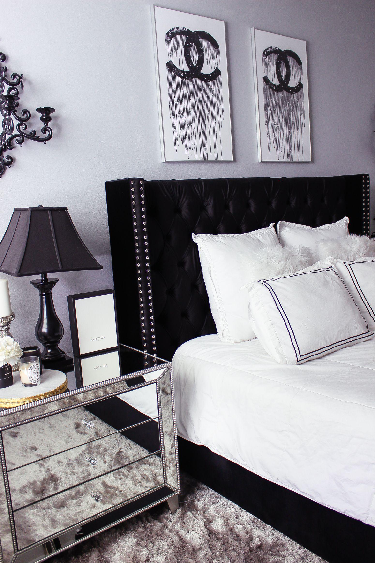 Black White Bedroom Decor Reveal White Bedroom Decor Black
