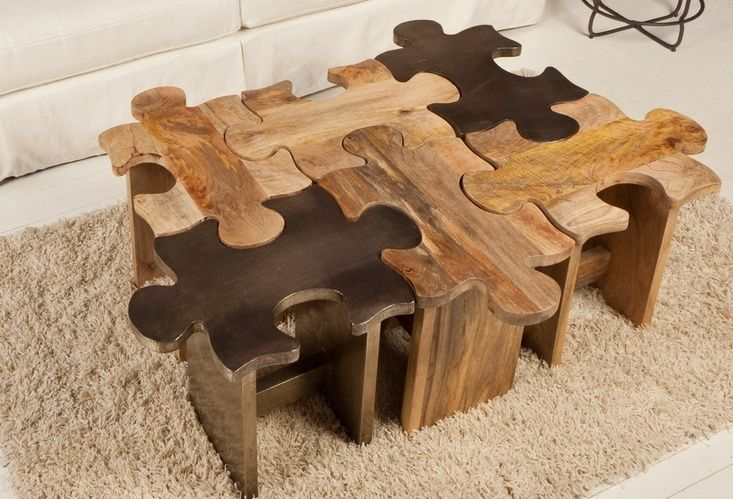 Furniture:Unique And Interesting Creative Design For Woodworking Coffee  Table Design With Puzzles Design Build Some Unique Homemade Coffee T.