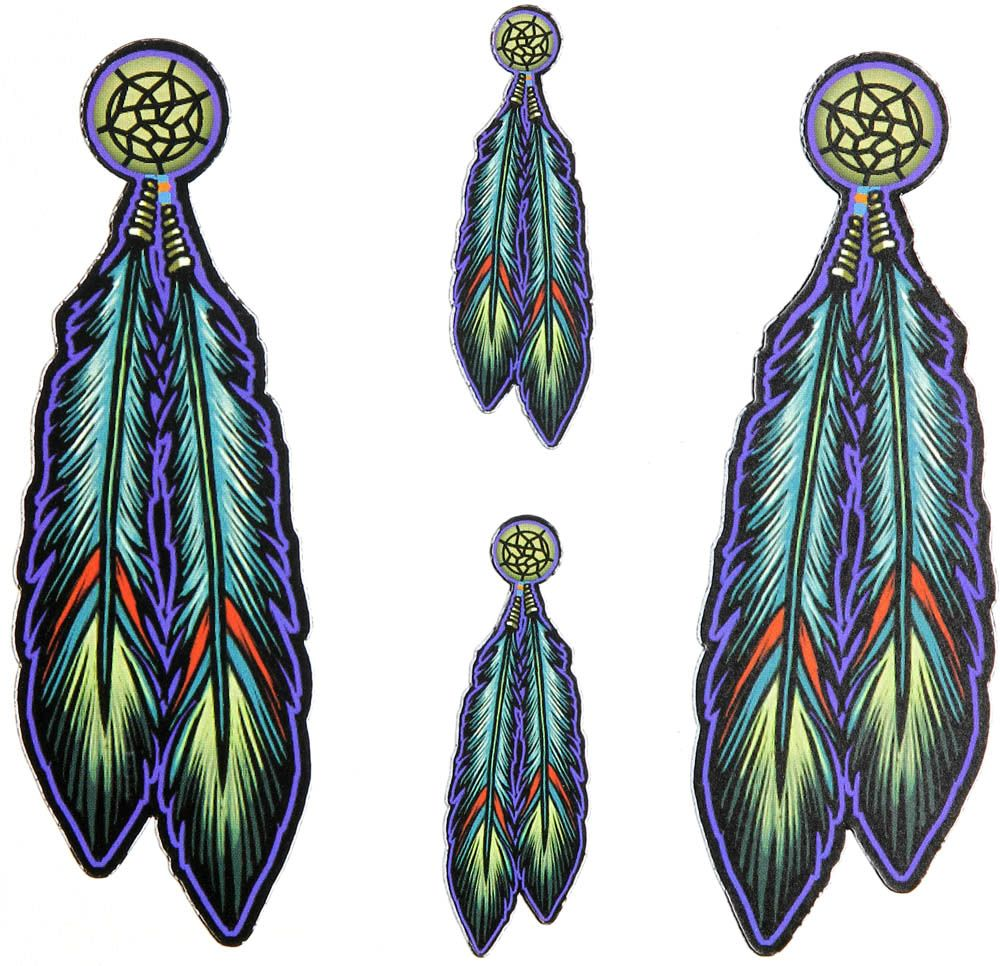 Tribal indian native feather stickers doodle idea 39 s for Native design
