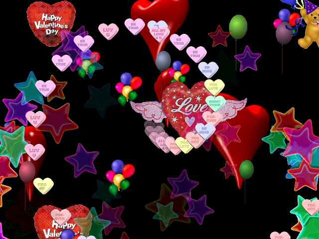 3d animation animated stars valentine softwares free - Cartoon valentine wallpaper ...