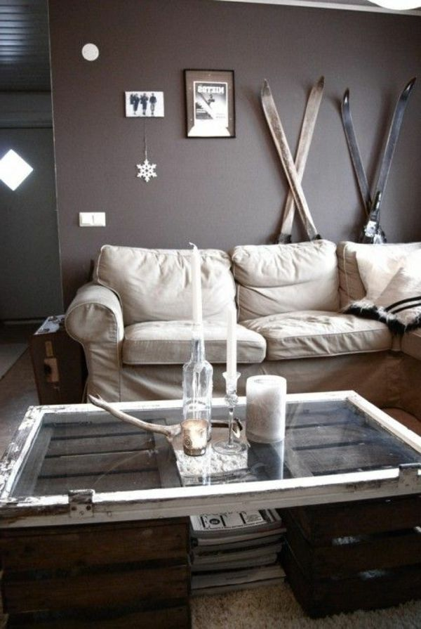 holz paletten möbel selbst basteln diy ideen wohnzimmer ... - Wohnzimmer Deko Diy