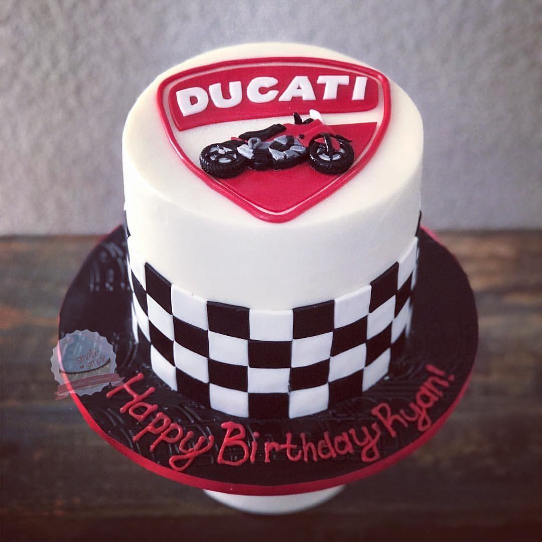 Ducati Motorcycle Cake Smallandsimpleconfections