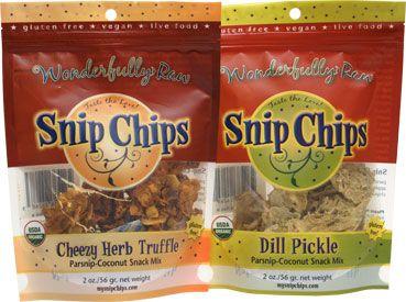Snip Chips Raw Organic Parsnip-Coconut Snack Mix – VeganEssentials Online Store
