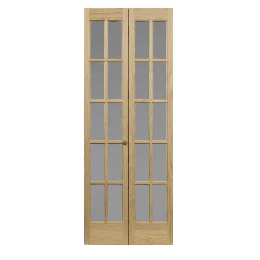 Pinecroft Classic French Unfinished Pine Wood 2 Panel Square Wood Pine Bifold Door Hardware Included With Images French Doors Interior Wood Doors Interior Doors Interior