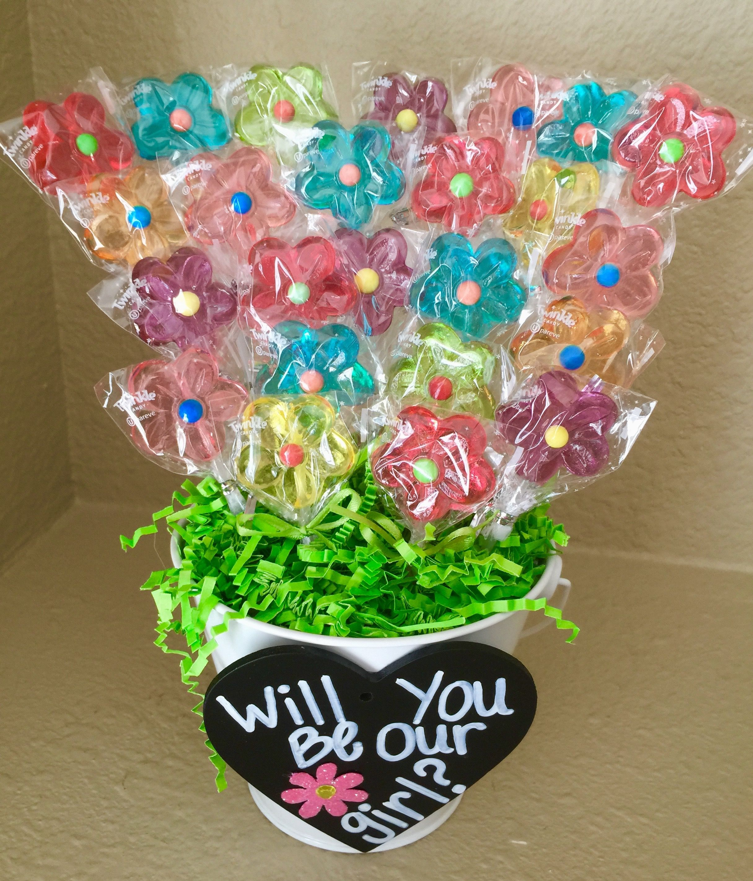 Our flower girl proposal! It was perfect! Gifts for