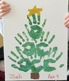 38 DIY Handprint Christmas Crafts for Kids #handabdruckweihnachten