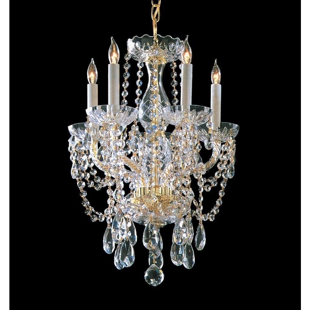 Crystorama Traditional Crystal Collection 5-light Polished Brass/Crystal Chandelier, Gold