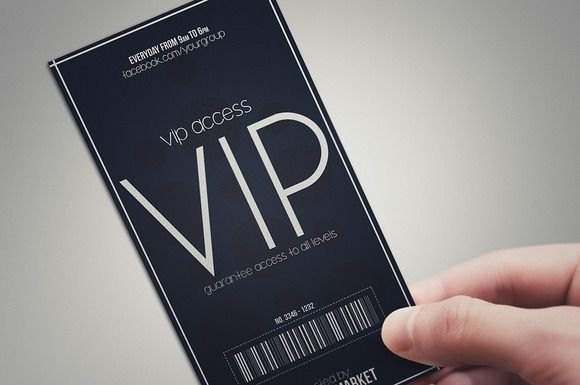 Minimal style VIP PASS cards Vip pass Card templates and Template