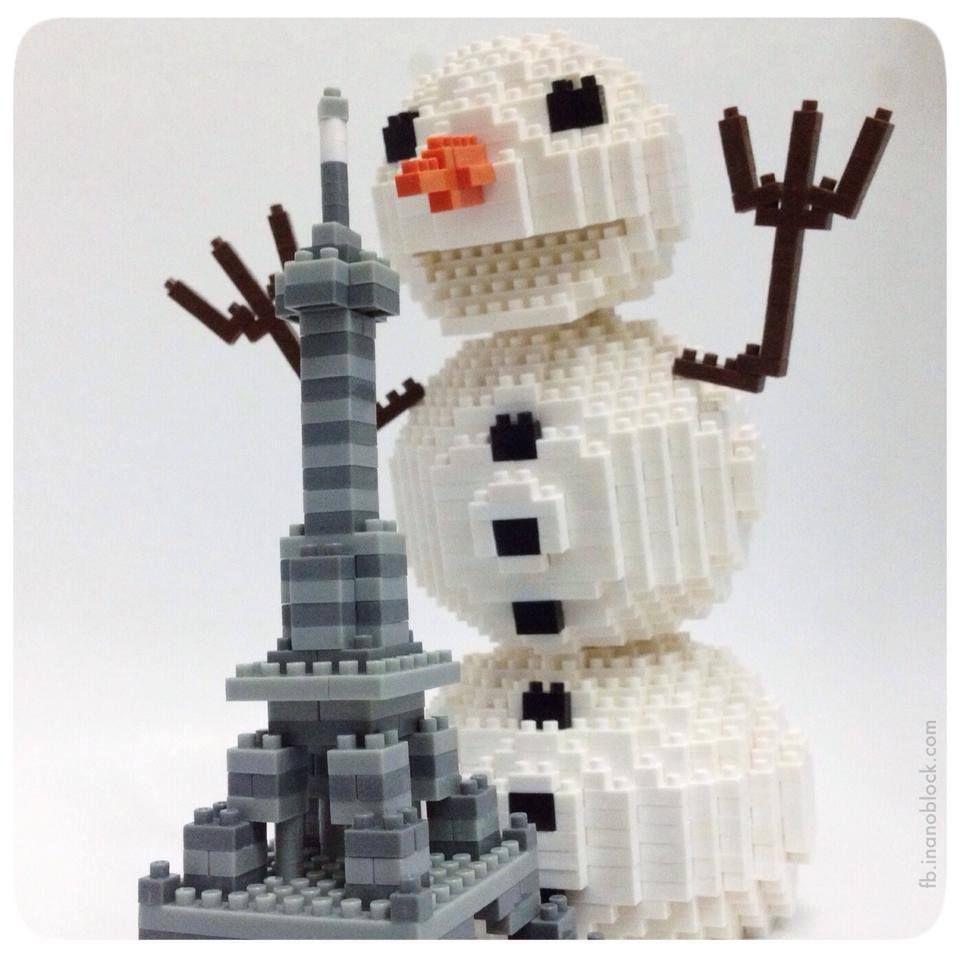 nanoblock Snowman terrorizing Paris? (с изображениями