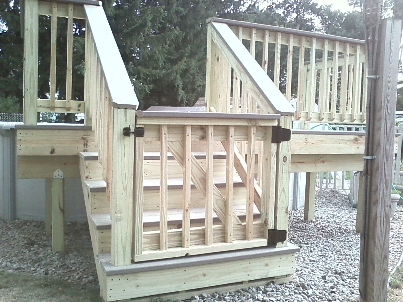 Deck Gates Ideas Pressure Treated Wood Decking With