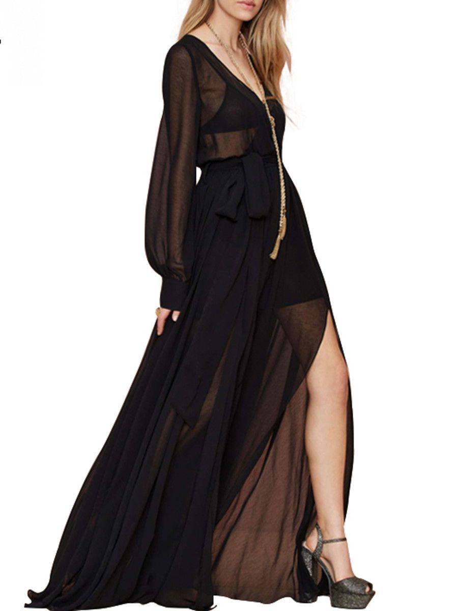 Seethrough chiffon maxi dress lennox pinterest chiffon maxi