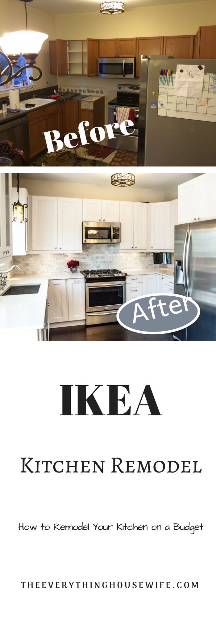 Before and after ikea kitchen the everything housewife blog