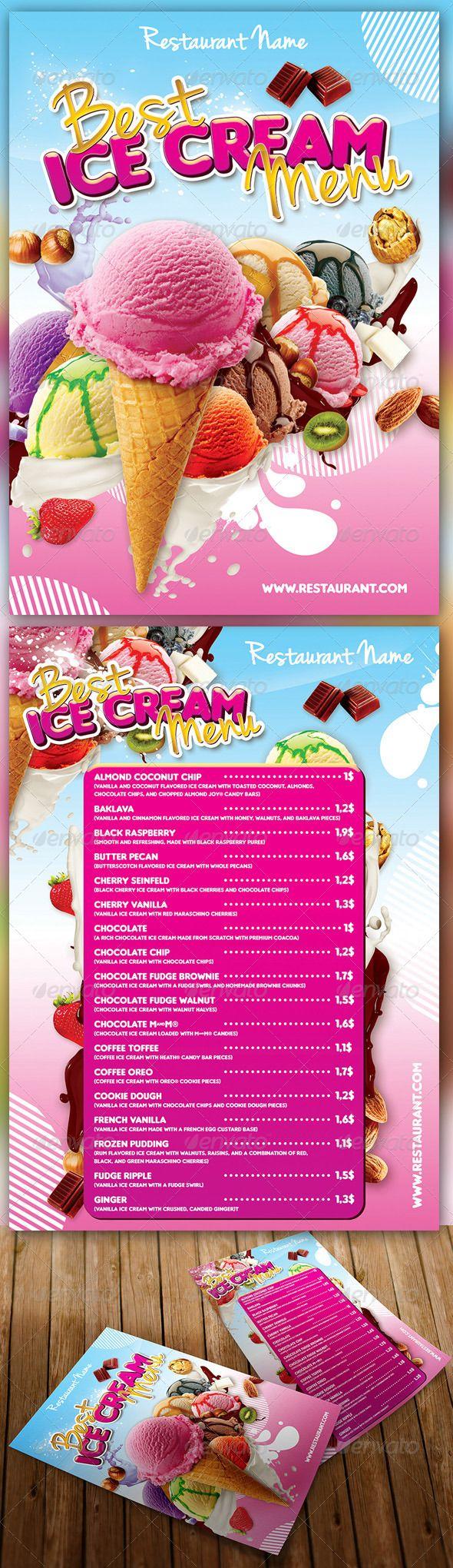 Ice Cream Menu | Ice cream menu, Food menu and Print templates