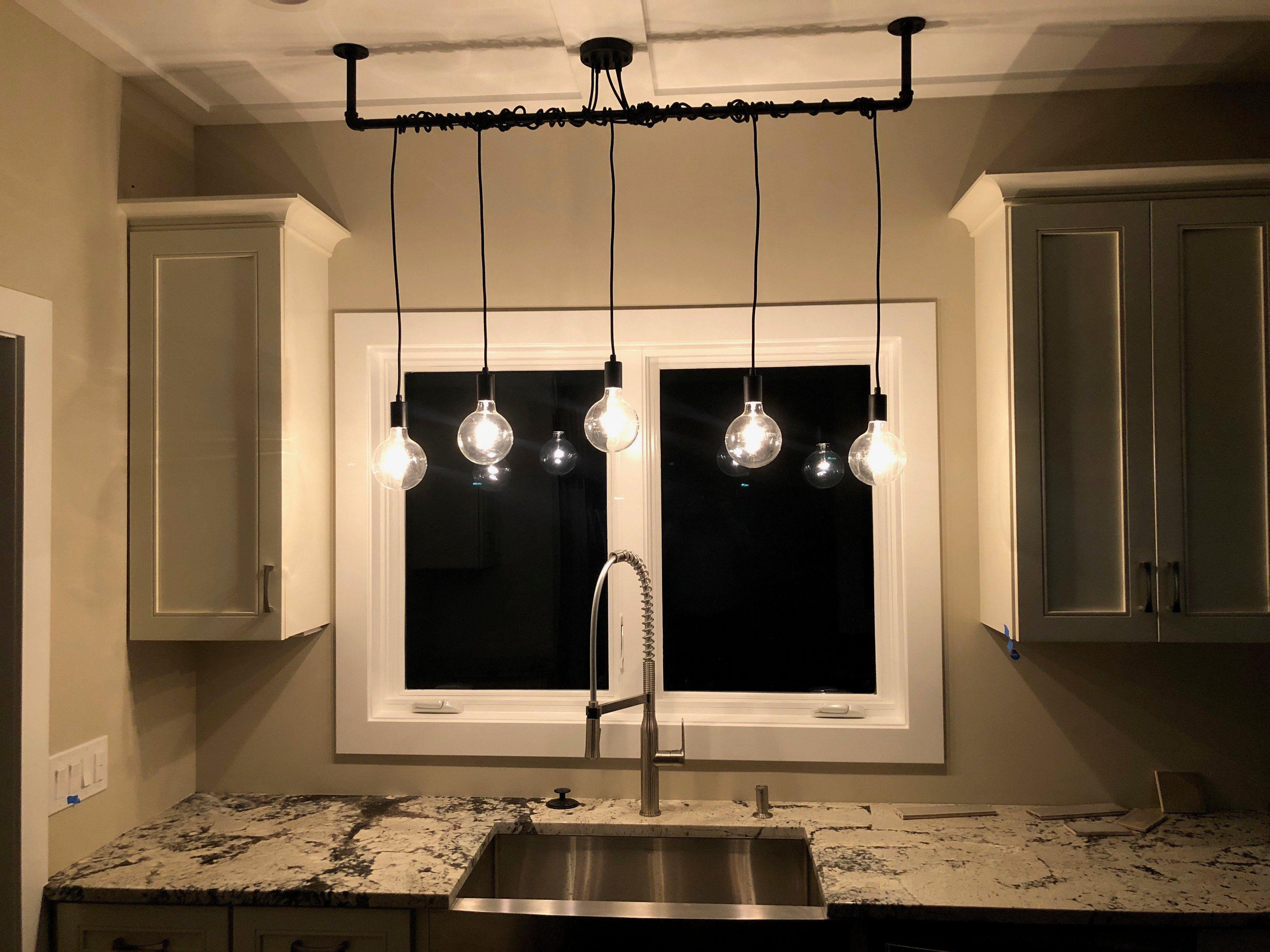Modern Kitchen Lighting Industrial Lighting Pendant Lights Over Sink Hangout Lighting Sink Pendant Dining Chandelier Sink Pendant Lights