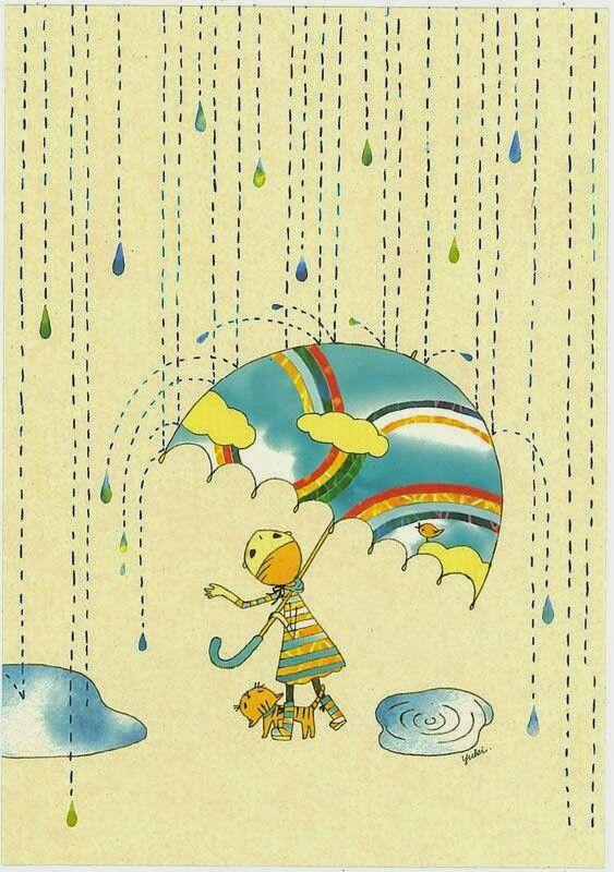 スニーフ 梅雨かしらね かわいい イラスト 手書き 音楽 イラスト 花柄 イラスト