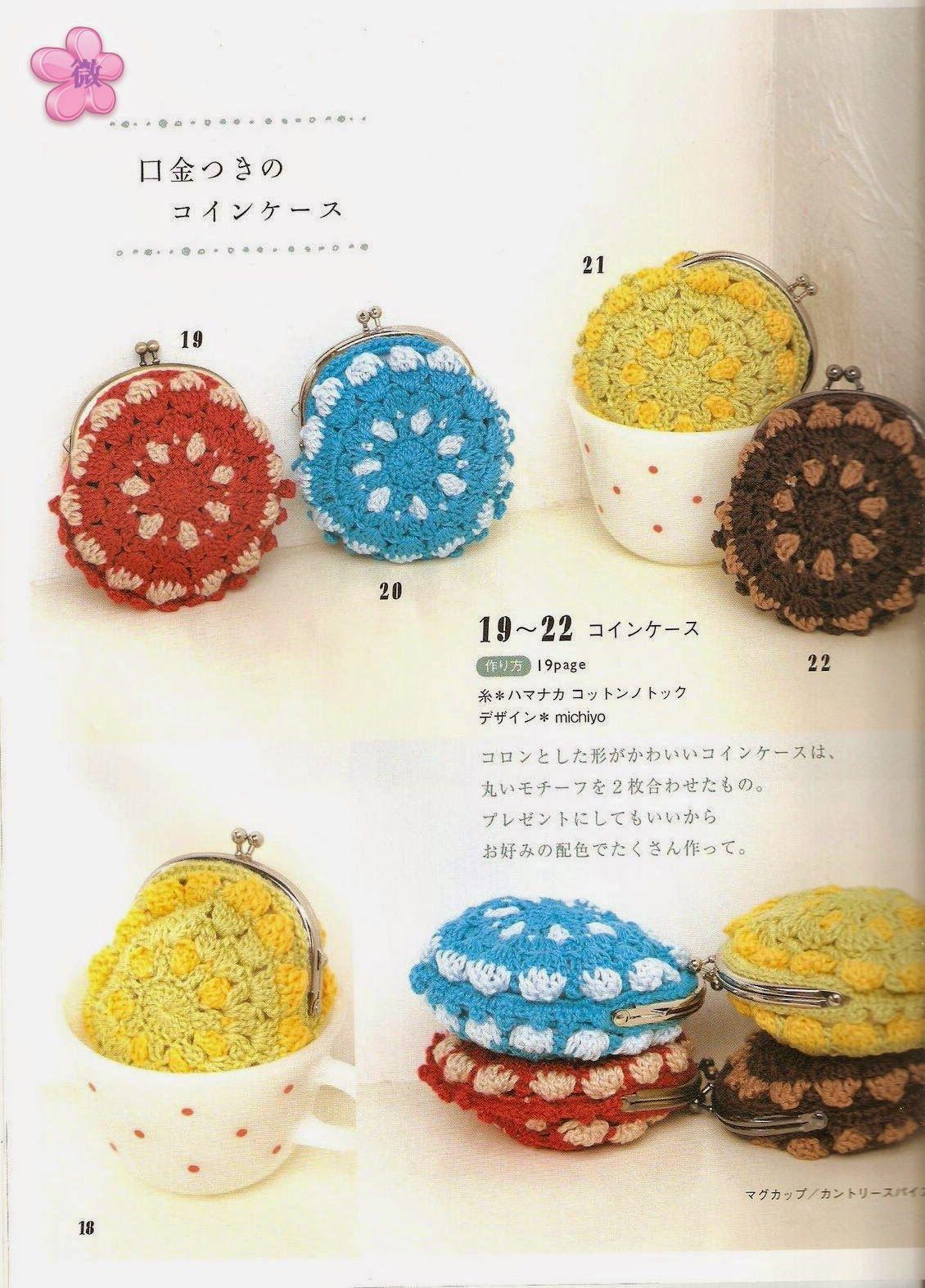 PATRONES GRATIS DE CROCHET: Lindos monederos circulares a crochet ...