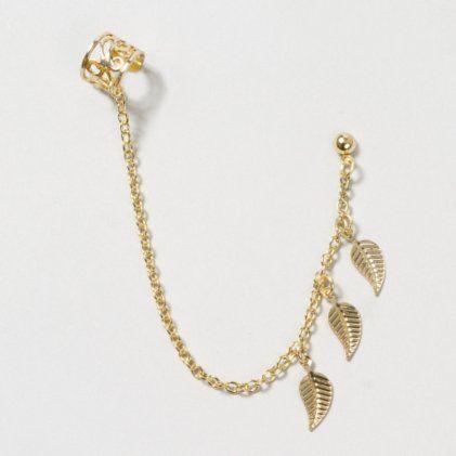 Claire/'s Girl/'s Gold Tone Silver Glitter Ear Cuff Gold//Silver