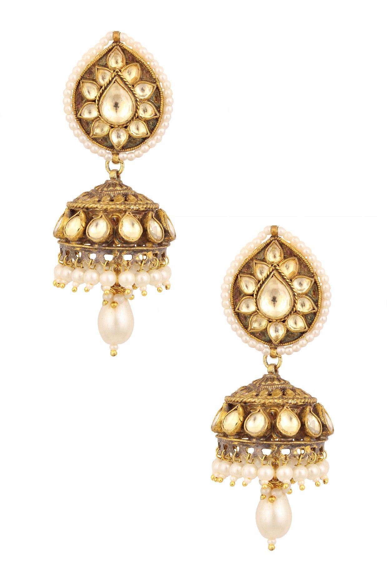 Johara jewels presents Jadau elaborated jhumkis available on at