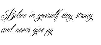 Afbeeldingsresultaat Voor Tattoo Designs Never Give Up