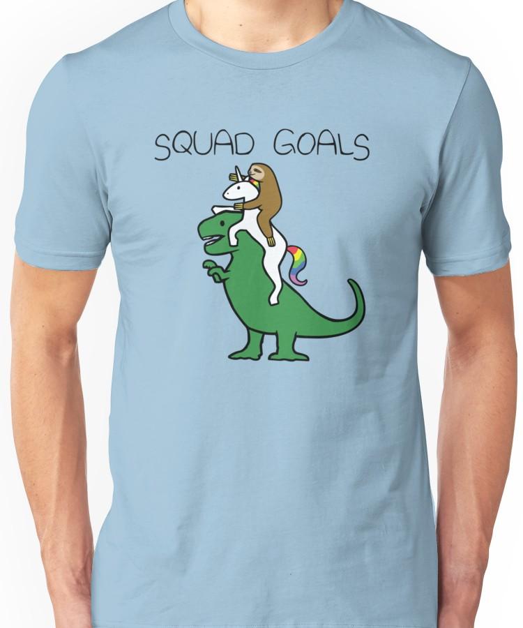 de7aebb7 Squad Goals (Sloth, Unicorn, T-Rex) Unisex T-Shirt in 2019 ...