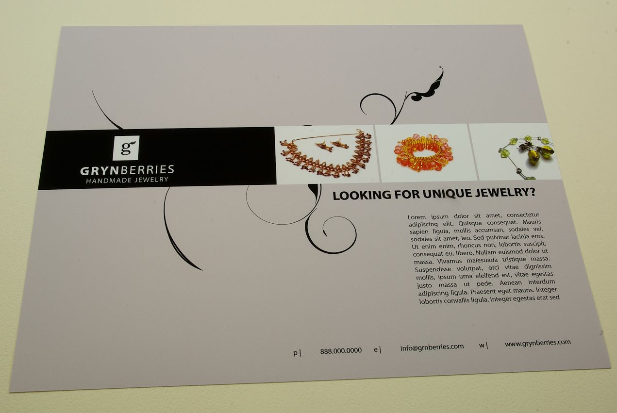 Jewelry Company Flyer Template Jewelry Company Flyer