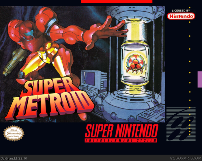 Super Metroid Box Art