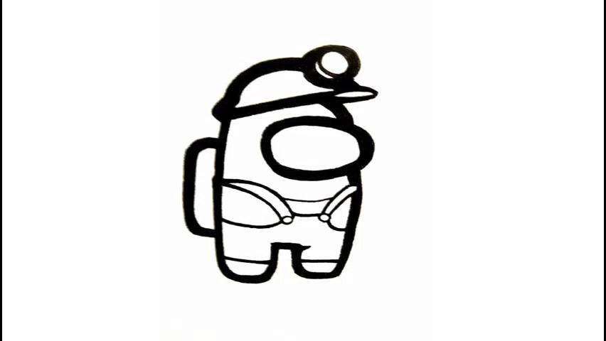 Speed Drawing Among Us - Skin Mine Gear