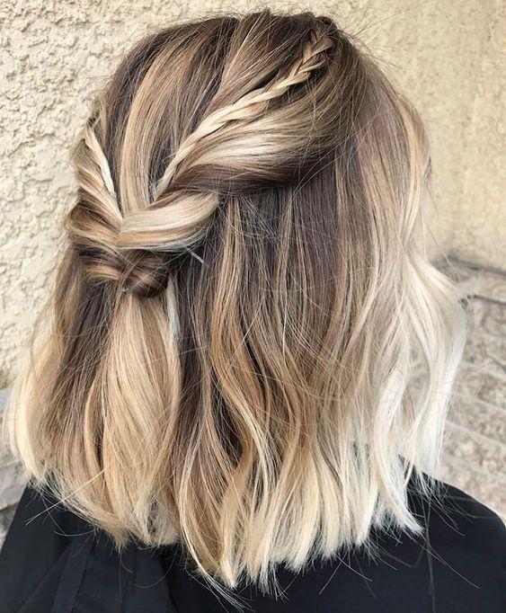 coiffures des cheveux mi longs Pelo Coiffure de bal