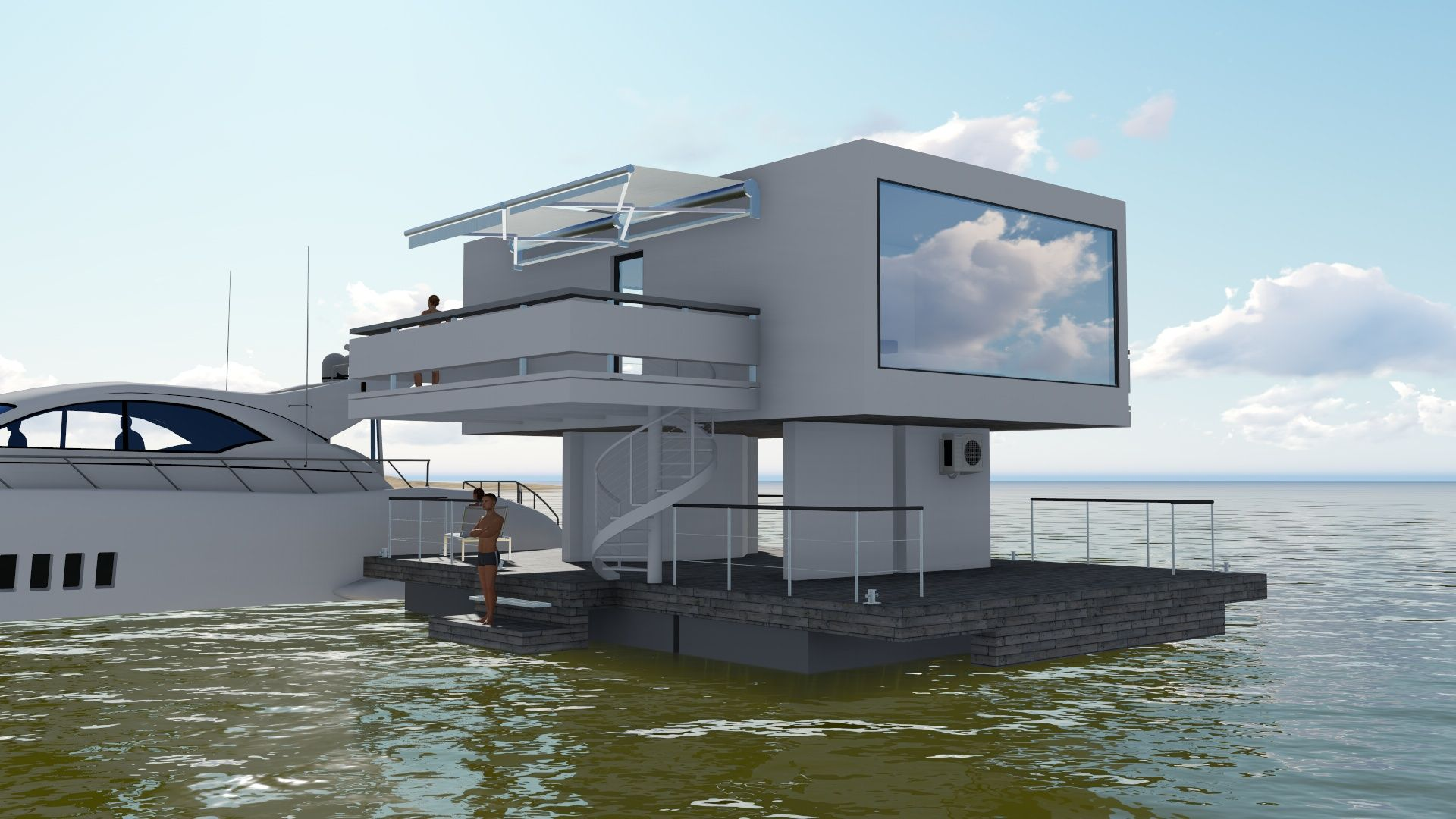 Do It Yourself Home Design: FLOATING HOUSE. LUXURY APARTMENTS. Architectural Workshop
