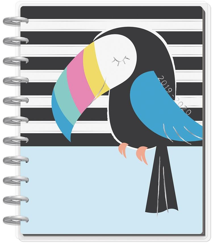 Calendario Orto 2020.Big Happy Planner Pastel Tropics 18 Months 2019 2020