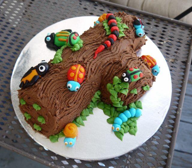 Admirable Bugs On A Log Cake Chrystal Von Ward Unruh Bug Birthday Cakes Funny Birthday Cards Online Overcheapnameinfo