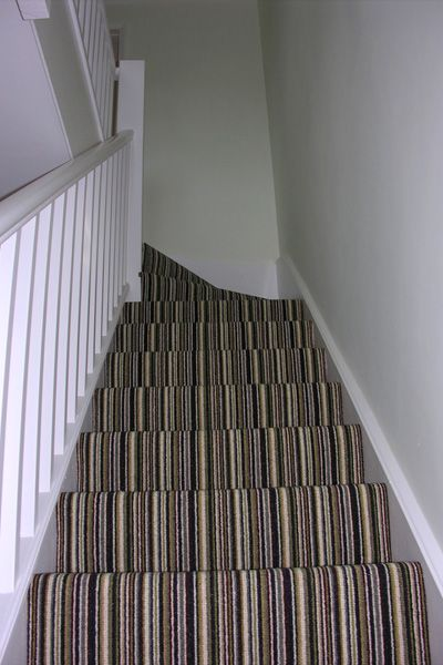 Stripe Carpet Making A Feature Of Your Stairs And Landing