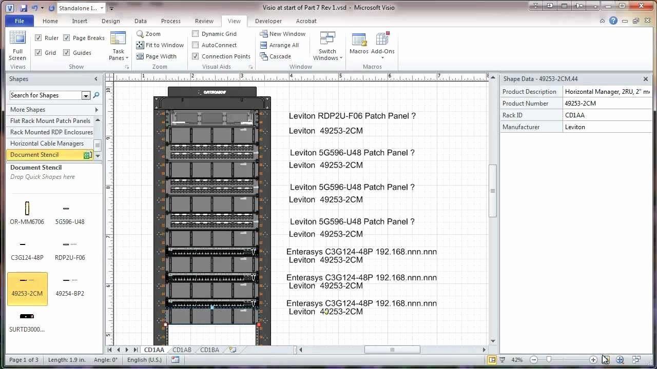 Visio Data Center Floor Plan Template 2020 Server Rack Data