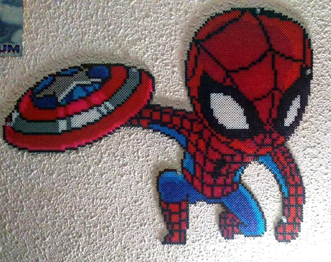 Hama Beads Spiderman: Spider-man Civil War By Luisblanes92