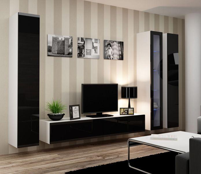 Moderne wandmeubels modern tv wandmeubels design for Goedkope woonkamer