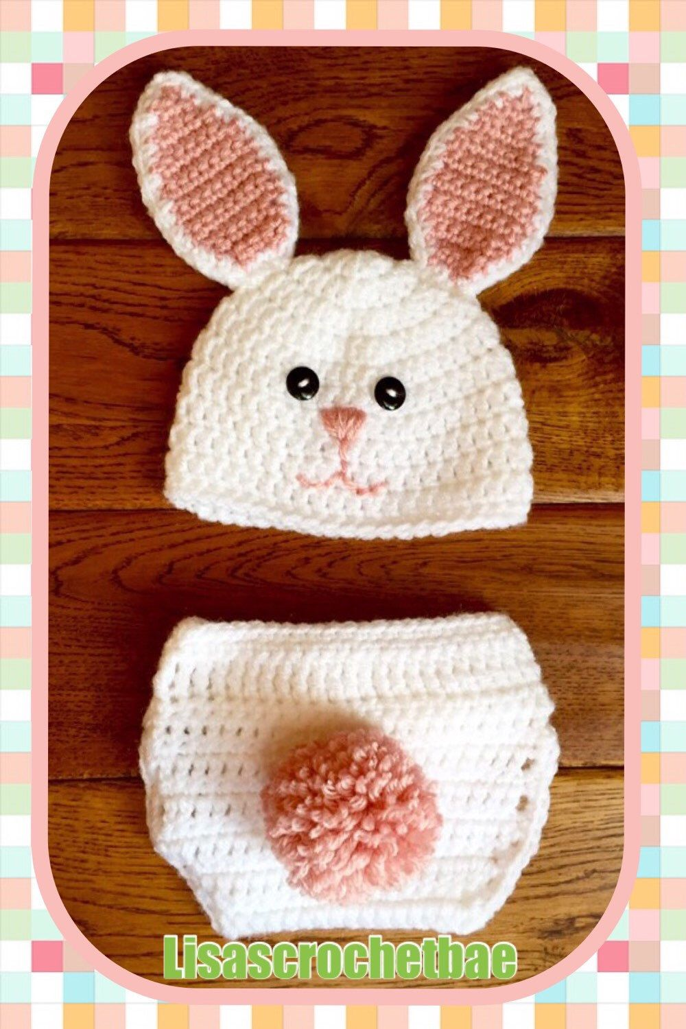 6145e7242cd A personal favorite from my Etsy shop https   www.etsy.com. Bunny HatDiaper  CoversFree ...