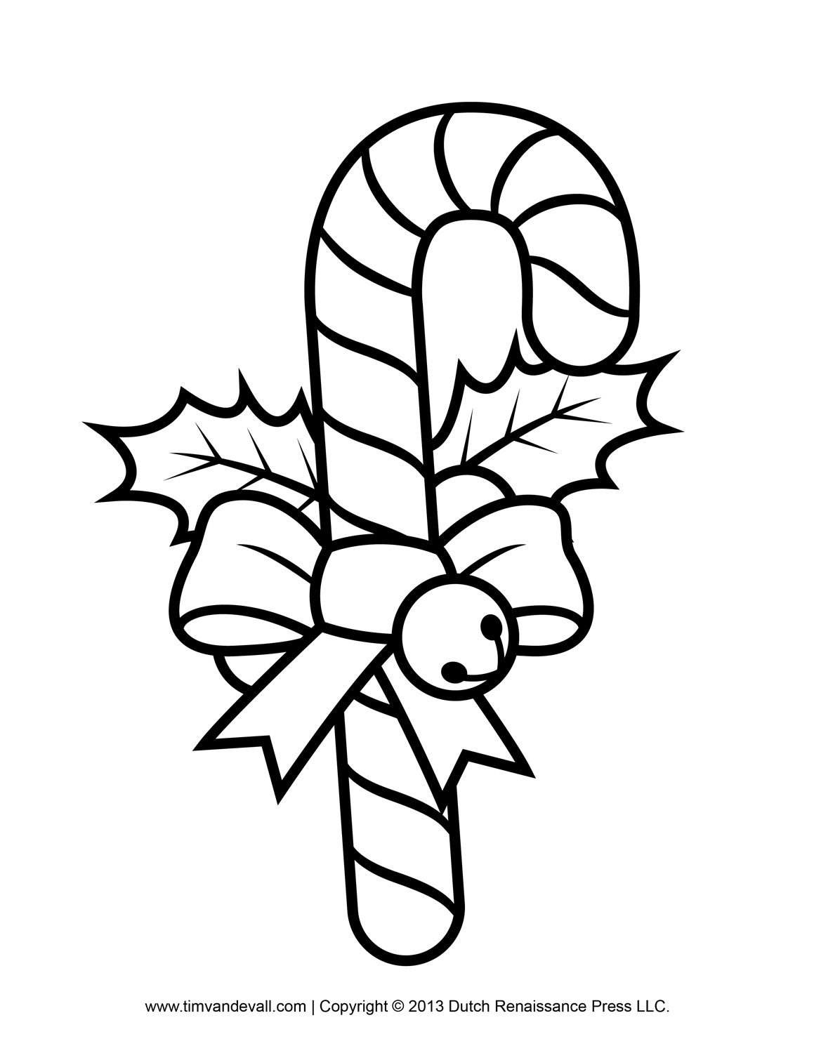 Free Candy Cane Template Printables Crafts Clipart Decorations