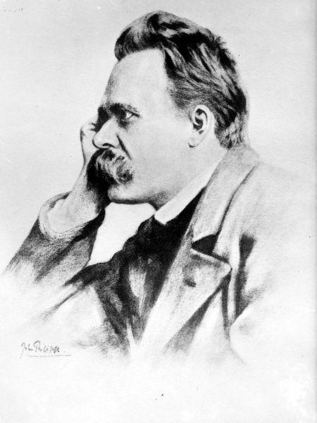 Friedrich Nietzsche (1844-1900), célebre filósofo alemán, poeta, compositor, crítico cultural y clásico filólogo (Public Domain) #miercolesretratos #EnciclopediaLibre