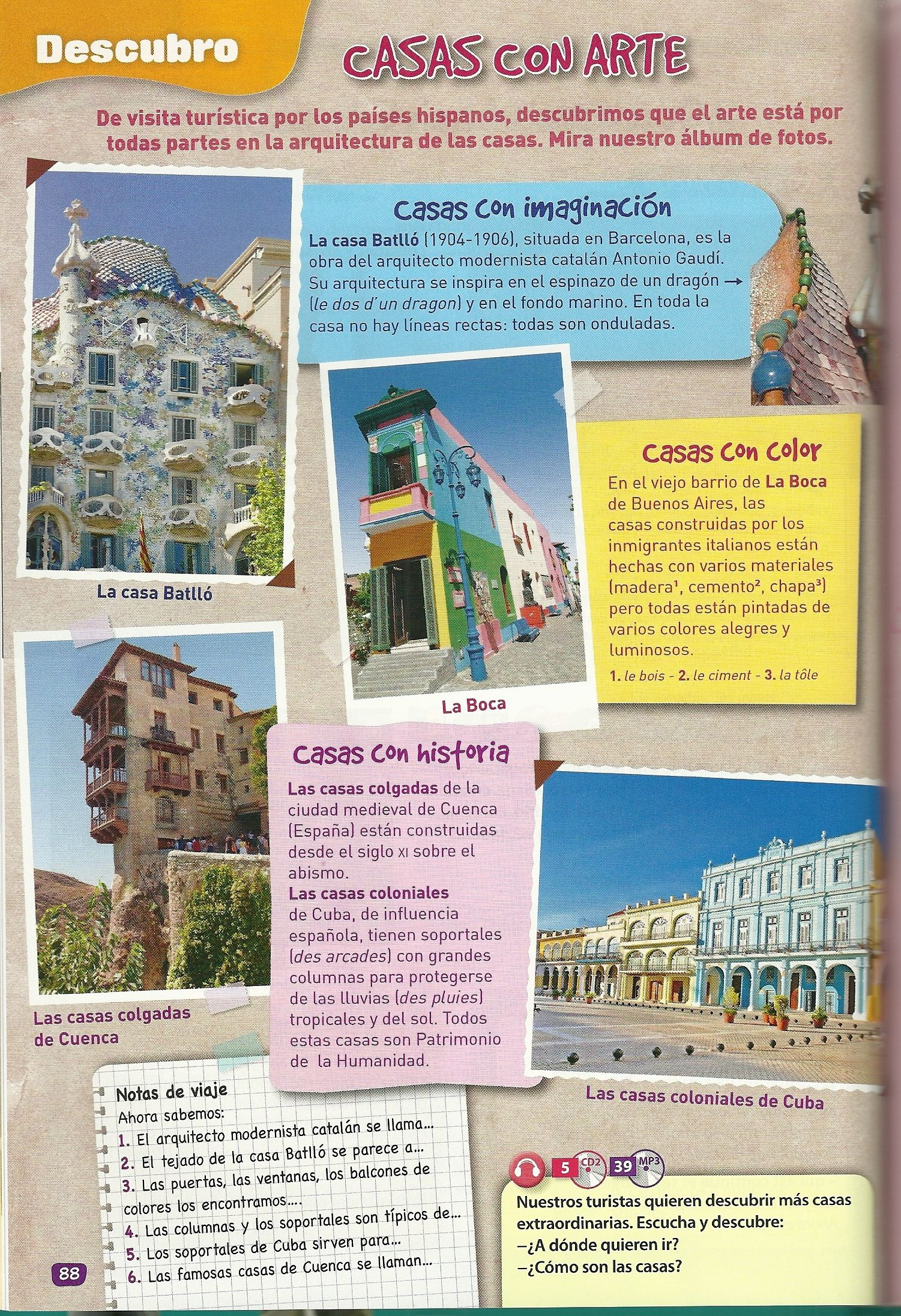 La Arte In Spanish Casas Con Arte Fun Thing To Do In A Travel Journal Tutoring