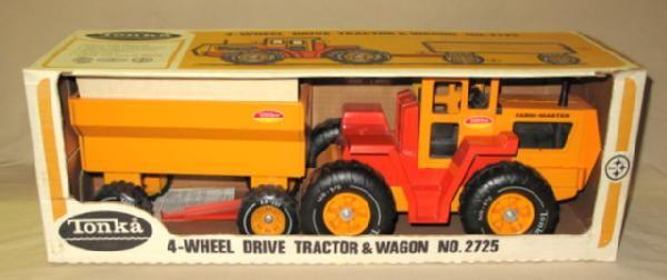 Wheels Tires Tonka4wheeldrive Com >> 1970 S Tonka 4 Wheel Drive Tractor Wagon 2725 2pc Set In Original